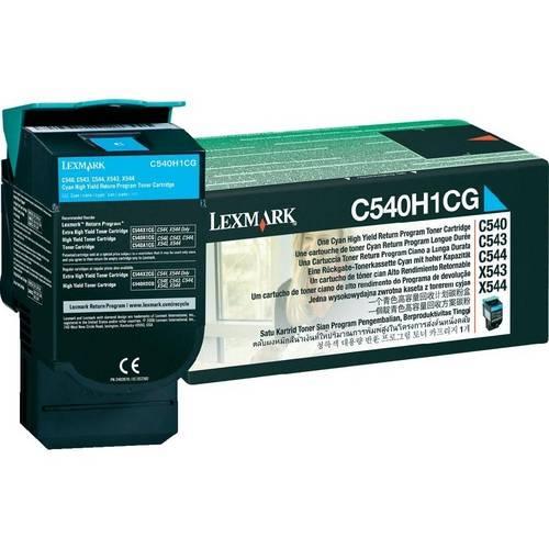 Toner Lexmark C54X Original C540H1CG Cyan C540   C544   X543