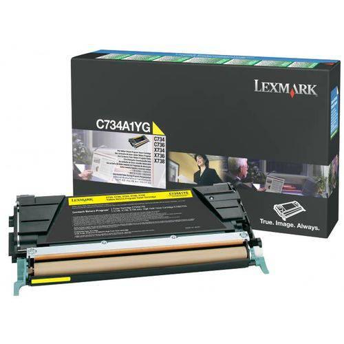 Toner Lexmark C734/6/x734/736 Amarelo - C734a1yg