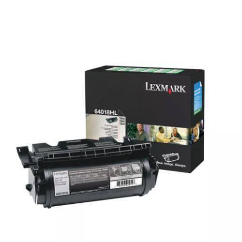 Toner Lexmark - Preto - 21k - 64018hb