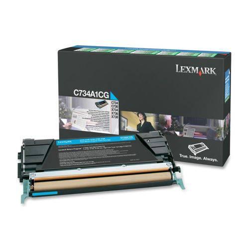 Toner Original Lexmark C734a1cg Cyan   Lexmark C734 C736 X734 X736 X738   6k