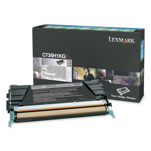 Toner Original Lexmark C736H1KG Preto C736 X736 X738 12K