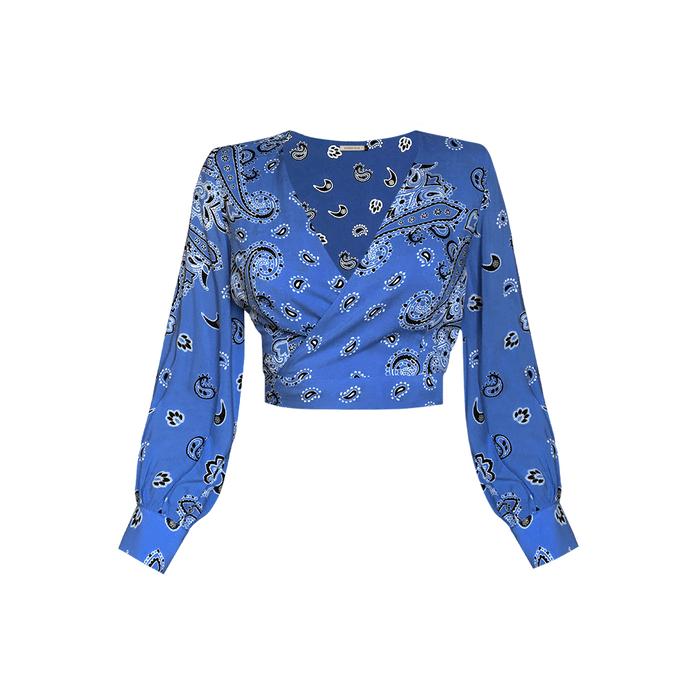 Top Constance Lenço Azul Denim P