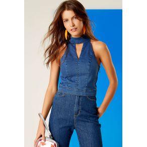Top Cropp Gola Alta Jeans - 34