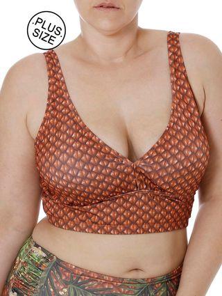 Top de Biquini Plus Size Feminino Laranja