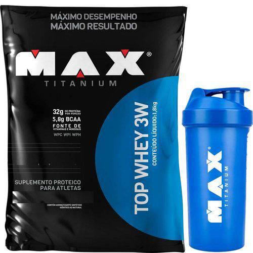 Top Whey 3w - 1,8kg - Baunilha - Max Titanium