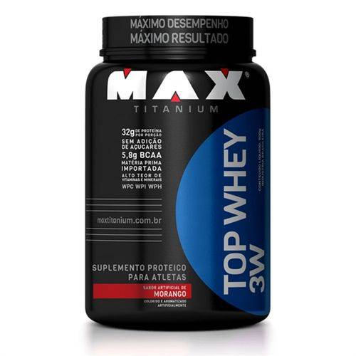 Top Whey 3w 900g + Barra de Proteína - Max Titanium
