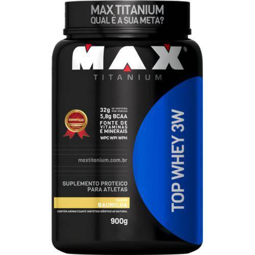 Top Whey 3W 900g - Baunilha - Max Titanium