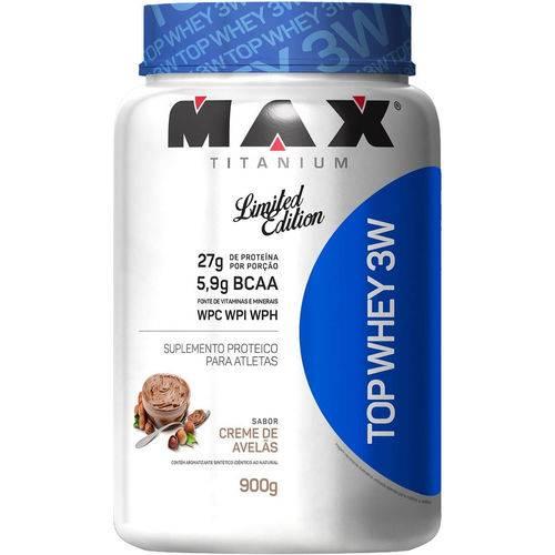Top Whey 3w 900g Creme de Avelas - Max Titanium
