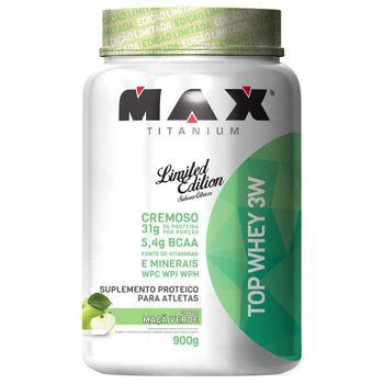 Top Whey 3W 900g Maçã Verde - Max Titanium