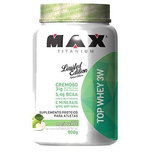 Top Whey 3w - 900g Maça Verde - Max Titanium