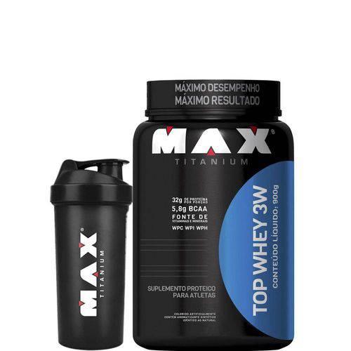 Top Whey 3w - 900g - Max Titanium - Morango