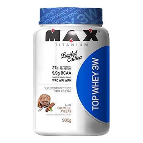Top Whey 3W - 900g - Max Titanium - Creme de Avelãs