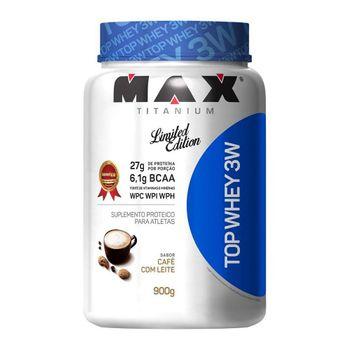 Top Whey 3w 900g - Max Titanium Sabor:Café com Leite