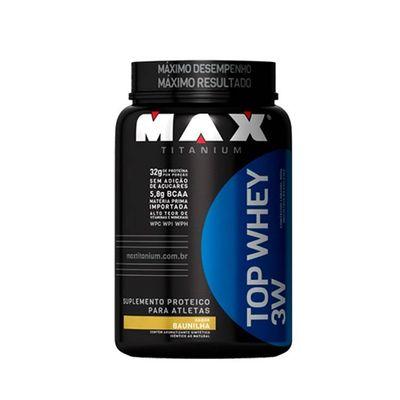 Top Whey 3W 900g - Max Titanium Top Whey 3W 900g Baunilha - Max Titanium