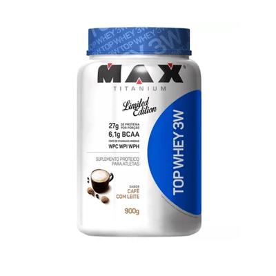Top Whey 3W 900g - Max Titanium Top Whey 3W 900g Café com Leite - Max Titanium
