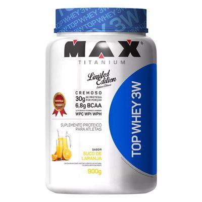 Top Whey 3W 900g - Max Titanium Top Whey 3W 900g Suco de Laranja - Max Titanium