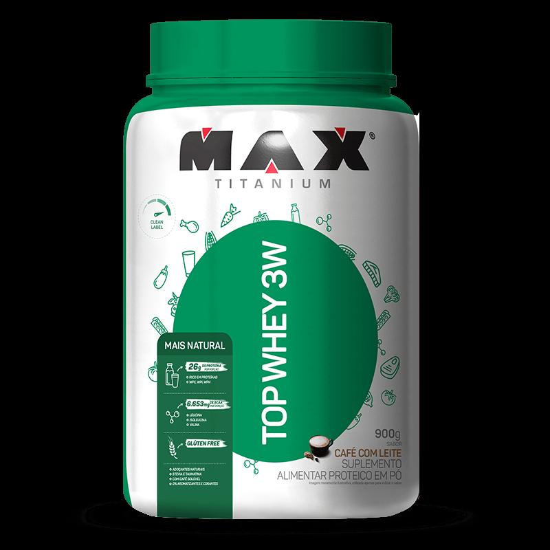 Top Whey 3W Mais Natural (900g) Max Titanium-Cacau