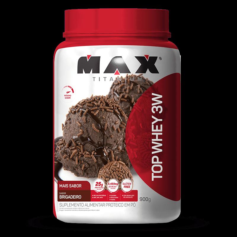 Top Whey 3W Mais Sabor (900g) Max Titanium