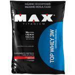 Top Whey 3w Refil Morango 1,8 Kg - Max Titanium