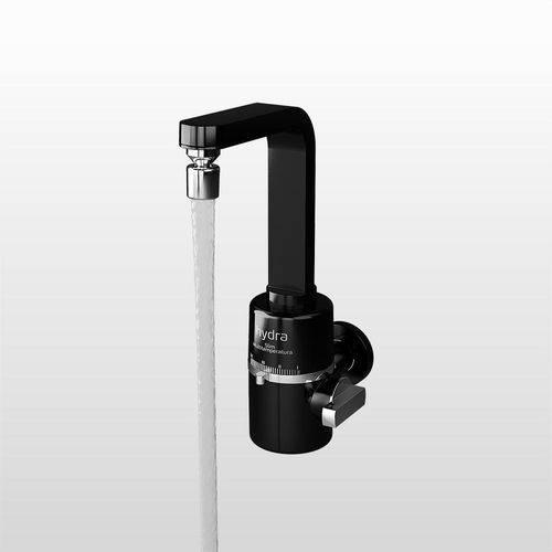Torneira Elétrica de Parede para Cozinha Slim 4t Black Multitemperatura Hydra 5500w 127v
