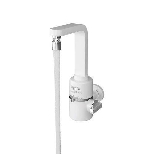 Torneira Elétrica Multitemperatura 5500W 110V Branca Hydra Corona