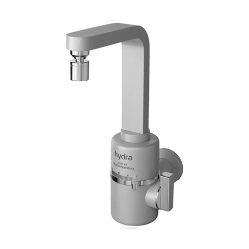 Torneira Elétrica Multitemperaturas Slim Prata Fosco Parede 220V - Hydra - Hydra