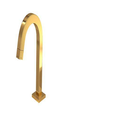 Torneira P/lavatório de Mesa Bica Baixa Tube Gold 1197.gl.tub