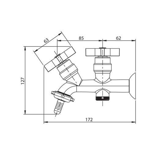 Torneira para Máquinda de Lavar Roupa Ref :1131 C47