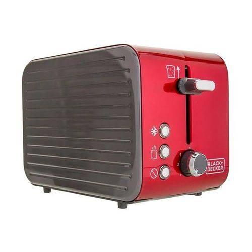 Torradeira Aço Inox Vermelha Black Decker T850v-BR 800w - 110v