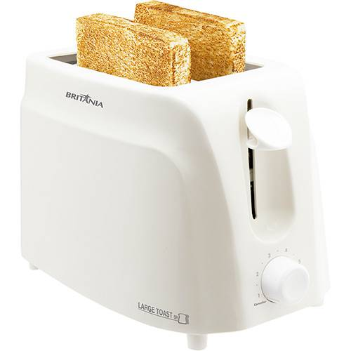 Torradeira Large Toast Branca Britania 220V