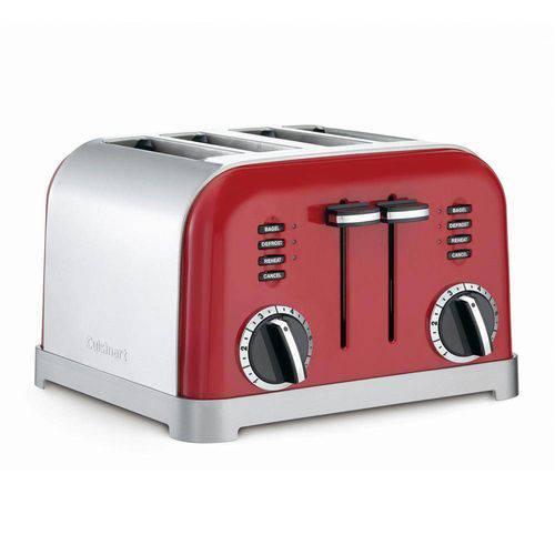 Torradeira para 4 Fatias Red Metalic Cuisinart -220v Cpt-180mrbr