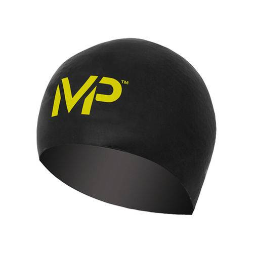 Touca de Natação Race Michael Phelps / Preta-Amarela