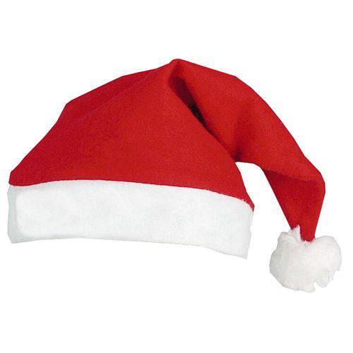 Touca de Natal Gorro Papai Noel Kit com 12 Peças