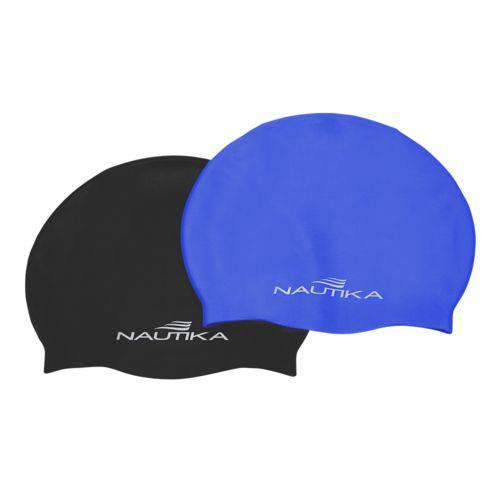 Touca de Silicone Adulto Nautika Azul