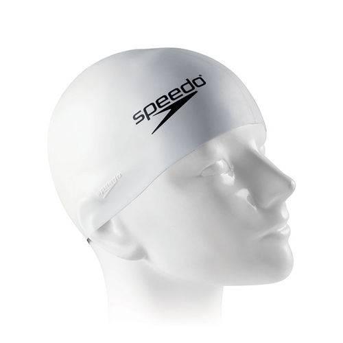 Touca de Silicone Speedo Flat Cap / Branca
