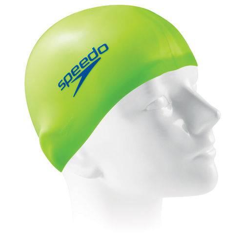 Touca de Silicone Speedo Flat Cap / Verde-Neon