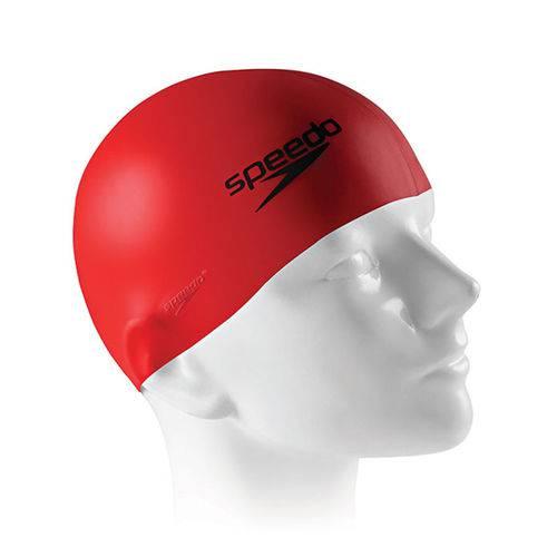 Touca de Silicone Speedo Flat Cap / Vermelho