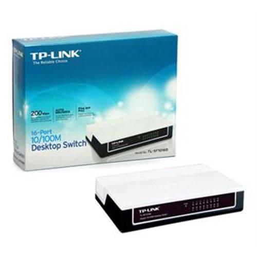 Tp-link, Switch não Gerenciável Tipo Desktop, 16 Portas Lan 10/100 Ethernet.