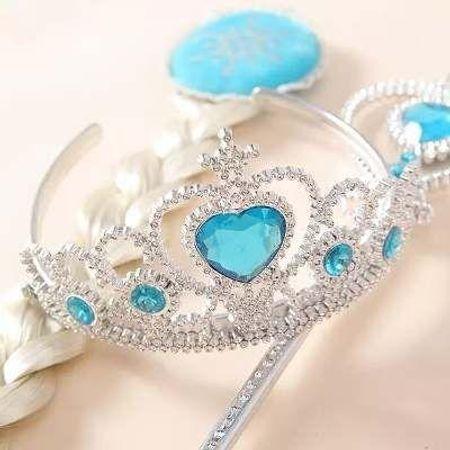 Trança Elsa com Varinha e Coroa - Unidade