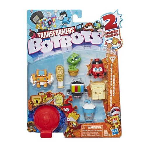 Transformers Botbots - Pack com 8 Figuras - Gangue Calórica E4143 - PLAYSKOOL