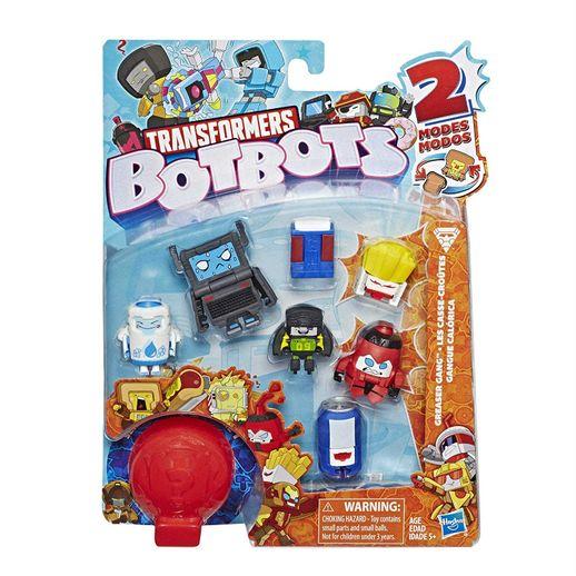 Transformers BotBots Série 1 Gangue Calórica - Kit com 8 Brinquedos 2 em 1 Surpresa - Hasbro