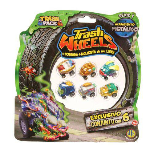 Trash Wheels - Blister com 6 - Série 1 - Dtc