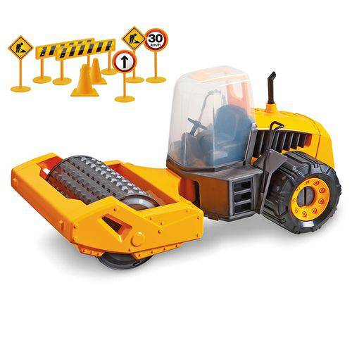 Trator Infantil Construction Machine Compactor 307 - Usual Brinquedos