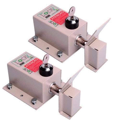 Trava Lock Plus C/ Temp + Suporte Universal Basculante Ipec (2 Unidades)