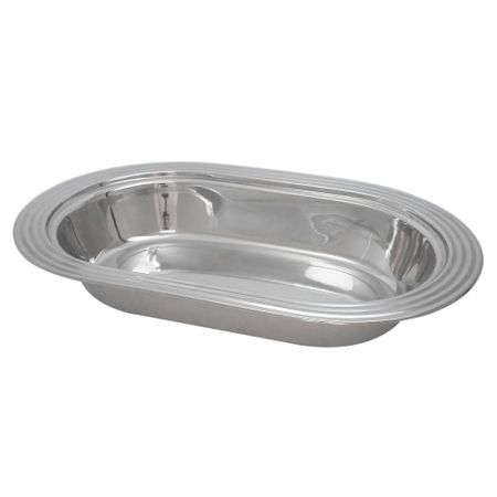 Travessa Inox Oval Funda 34cm - Gourmet Mix