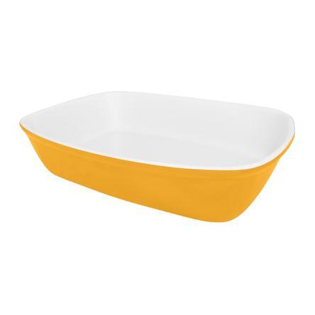 Travessa Refratária Bake Média 26X18X5,6CM - Bicolor Amarelo