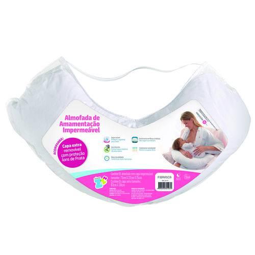 Travesseiro Almofada de Amamentação Impermeável 73x22x15cm Fibrasca Z4107