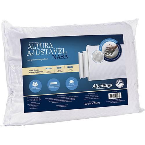 Travesseiro Altura Ajustável Nasa Allemand - Duoflex