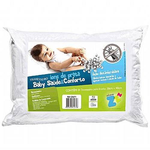 Travesseiro Baby com Íons de Prata Lavável 30x40cm Fibrasca