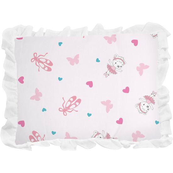 Travesseiro com Babado - Rosa 1
